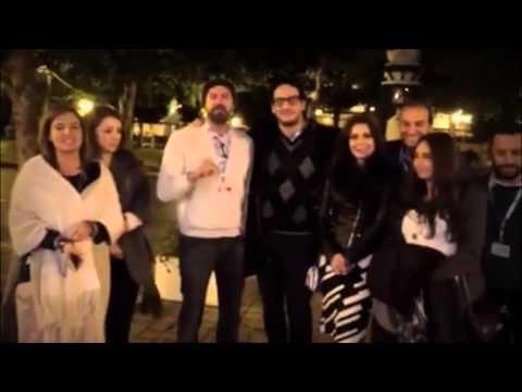 أبو النجا وعمرو يوسف وهنا شيحة يكسرون حظر التجوال في تونس