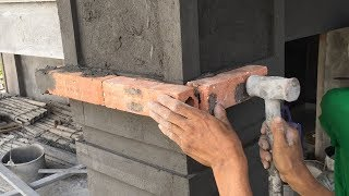 Video Smart Contruction Skills - How To Decorate Columns By Sand And Cement, Contruction Daily MP3, 3GP, MP4, WEBM, AVI, FLV Agustus 2018