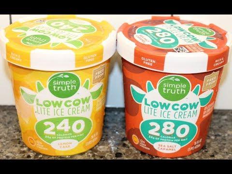 Simple Truth Low Cow Lite Ice Cream: Lemon Cake and Sea Salt Caramel Review