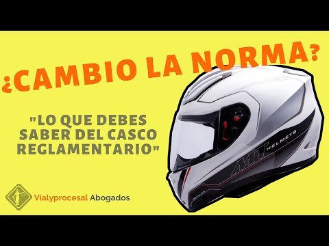 Casco reglamentario en Colombia NTC 4533 de 2017