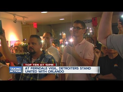 Rally for Orlando in Ferndale
