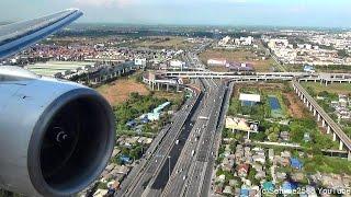 Video Landing in Bangkok Airport. Boeing 777-200. Thai Airways Flight TG322. Rolls Royce Trent Engine MP3, 3GP, MP4, WEBM, AVI, FLV Juni 2018