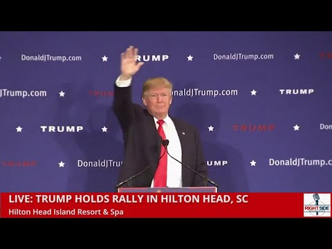 Donald Trump Speaks to Fired Up Crowd in Hilton Head, SC. Begin at 41 min 00 sec