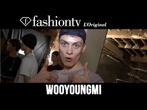 Models Backstage - http://www.FashionTV.com/videos PARIS - Go backstage at Paris Men's Fashion Week with the male models walking in the Wooyoungmi Spring/Summer 2015 runway sho...