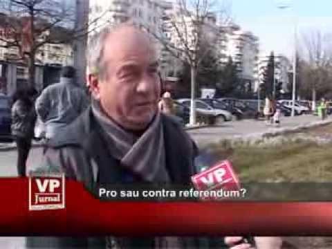 Pro sau contra referendumului?