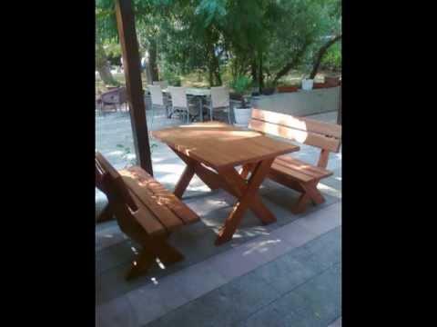 bastenske garniture,stolovi, klupe od drveta