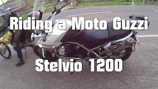 6. Riding a Moto Guzzi STELVIO 1200