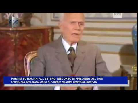 PERTINI SU ITALIANI ALL'ESTERO, DISCORSO DI FINE ANNO 197