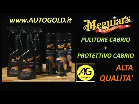 CABRIO: pulizia e protezione della cappotta con i prodotti MEGUIARS