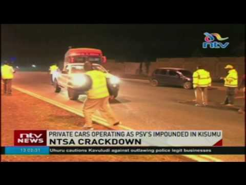 NTSA crackdown: Private cars operating as PSV's impounded in Kisumu (видео)