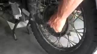 10. Removing. Ural Rear Wheel