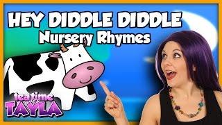 Hey Diddle Diddle, Nursery Rhymes with lyrics