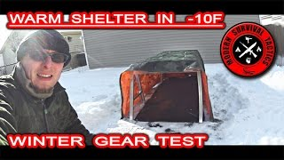 The test of a simple but very effective winter shelter idea. This was a quick backyard test, so do not expect our typical woods overnight trip. We wanted to build the shelter with similar materials and equipment which can be found outdoors and inside a backpack. The night temperature was around -10F (-23C). The shelter kept the inside temperature approximately between 35-25F. We are extremely satisfied with this test. The snow can be very good friend in the winter!------------------------------------------------------------------------------------------------------FOR MUCH MORE VISIT:http://www.modernsurvivaltactics.comhttp://www.store.modernsurvivaltactics.comhttps://www.google.com/+MODERNSURVIVALTACTICS