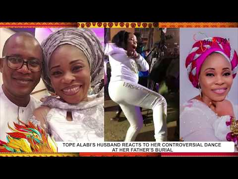 TOPE ALABI'S HUSBAND REACTS TO HER CONTROVERSIAL DANCE AT HER FATHER'S BURIAL