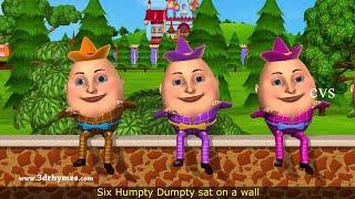 Humpty Dumpty Nursery Rhyme - 3D Animation English Rhymes for children