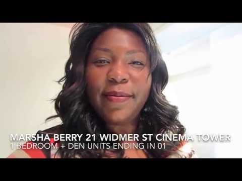 Marsha Berry Real Estate Toronto Condos 21 Widmer St Cinema Tower 1 Bedroom + Den Units Ening In 01