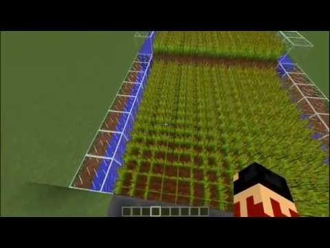 Minecraft Tutorials | How to make an Automatic Farm without Sticky Pistons V.2