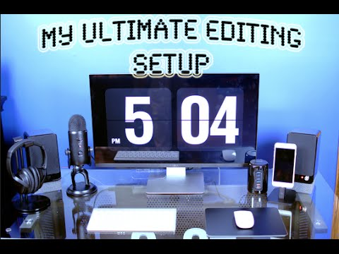 My ULTIMATE EDITING SETUP (Glass Desk)