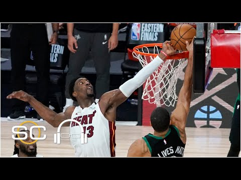 Breaking down Bam Adebayo's block on Jayson Tatum in Heat vs. Celtics Game 1 | SC with SVP