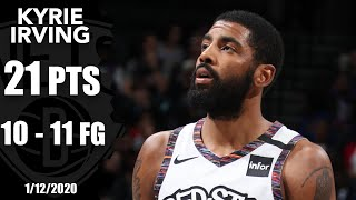 Kyrie Irving has nearly perfect return for Nets   2019-20 NBA Highlights