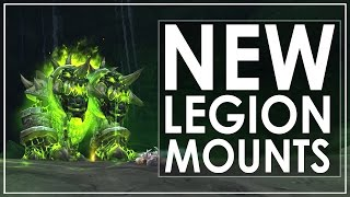 A look through all the mounts that appear to be implemented for the launch of World of Warcraft: Legion on the 30th of August. ●Twitter - https://twitter.com...