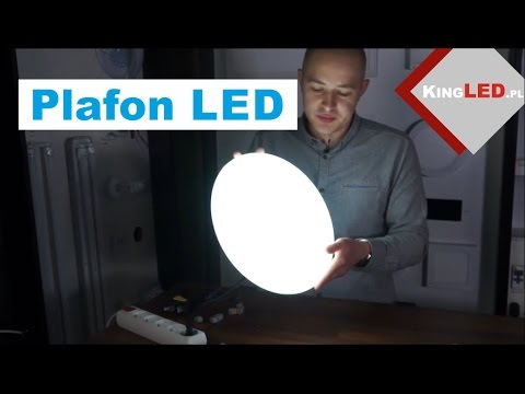 Plafon LED z wbudowanym źródłem światła
