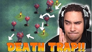 Video CAN YOU GET PAST THIS!?! | CLASH OF CLANS | DEATH TRAP BASE!! MP3, 3GP, MP4, WEBM, AVI, FLV Desember 2017
