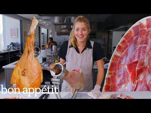 Pro Chef Learns How to Carve a $1,500 Leg of Ham | Bon Appétit