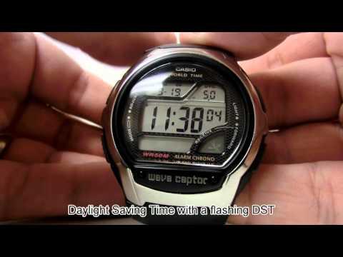 Setting Daylight Saving Time On Casio Digital Watch - WV58A