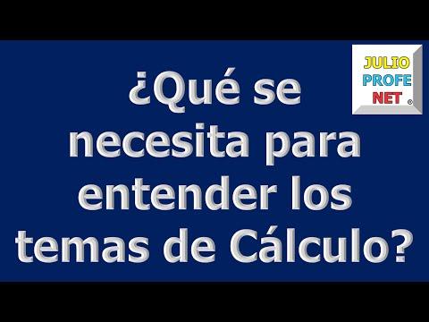 Mensaje 5 de Julioprofe: ¿Qué se necesita para entender los temas de calculo?