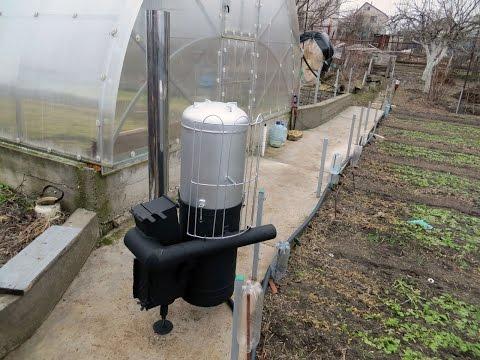 Печка с водяным контуром видео