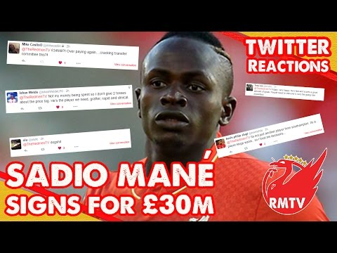 Sadio Mane Signs For Liverpool! | Liverpool Fan Twitter Reactions
