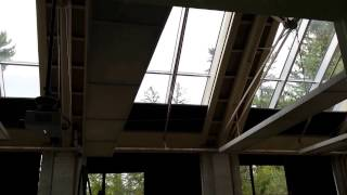 Motorized Meet-in-the-Middle Skylight Shades: Vassar College