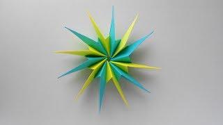 Звезда из бумаги. Оригами поделки на Новый год 2018