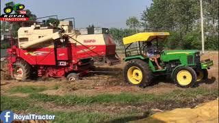 Combine Tochan John Deere 5310 Vs Swaraj Combine 8100