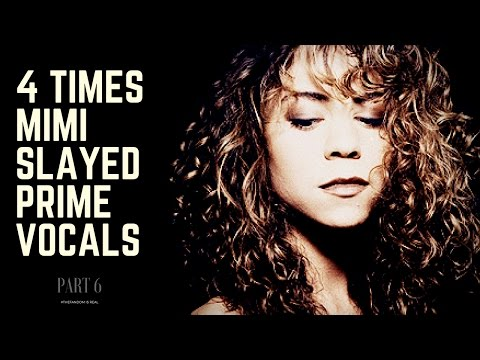 """4 Times Mariah Completely Nailed """"90s"""" Vocals   PART 6 (2004-2016)"""