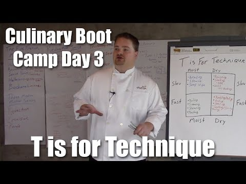 Culinary Boot Camp Day 3 | T Is For Technique | Stella Culinary School (2018)