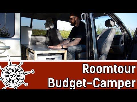 Room Tour VW T5 Budget-Camper (Van Tour) || SCHALLDOSE ON TOUR