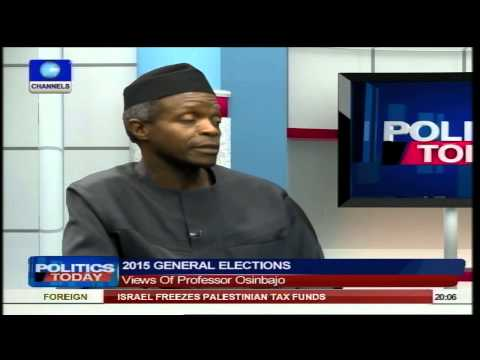 , title : 'Politics Today:  Nigerians Are Fed Up But APC Will Bring Change - Osinbajo Pt1'