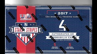 2017 Panini Stars and Stripes Baseball Hobby Box Break / 5 Hits
