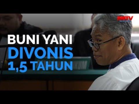 Buni Yani Divonis 1,5 Tahun