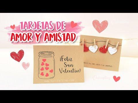 Frases de amistad - TARJETAS FÁCILES DE AMOR Y AMISTAD - SAN VALENTÍN / Valcrafting