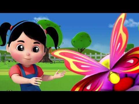 Schmetterlings lied | Kinderreime für Kinder | Kinderlied | Butterfly Song | Farmees Deutschland