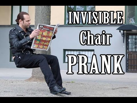Sit Anywhere with the Invisible Chair Prank