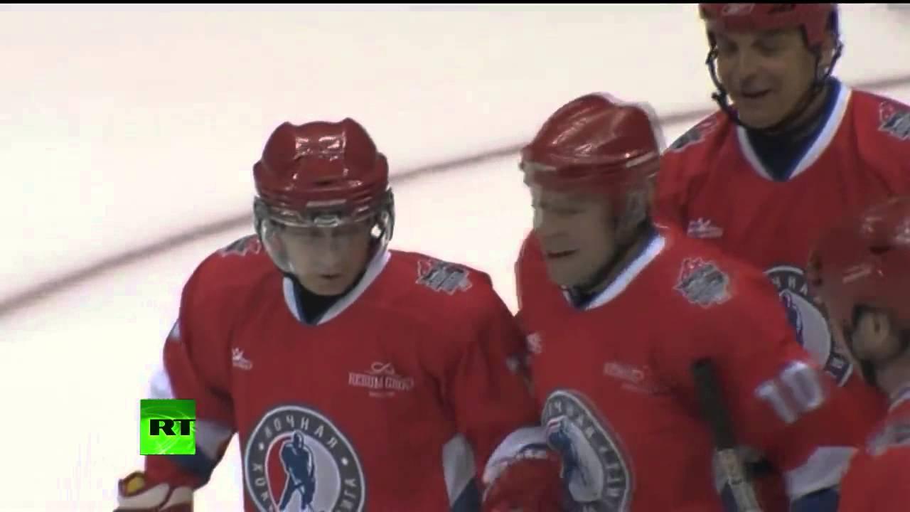 Putin mete 6 goles y da 4 asistencias en un partido de hockey