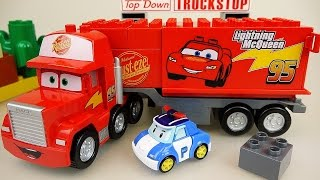 Video Lego Cars Truck Block car and Robocar Poli car toys MP3, 3GP, MP4, WEBM, AVI, FLV Juli 2018