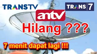 Cara Mencari Channel Hilang TRANSTV, TRANS7 Dan ANTV Yang Pindah Ke Satelit Telkom 4