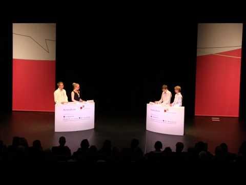 Jugend debattiert Bundesfinale 2013 - Debatte der Altersgruppe 1:  Debattenthema: Sollen bei allgemeinen Wahlen Jugendliche ab 16 Jahren wählen dürfen?