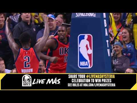 Serge Ibaka puts the fans on their...