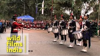 Kalimpong India  city images : Bagpipe Band of Scottish Universities Mission Institution from Kalimpong, India